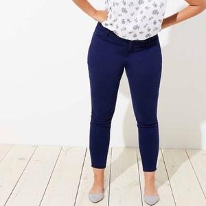 New LOFT Plus Size Brushed Sateen Leggings Blue